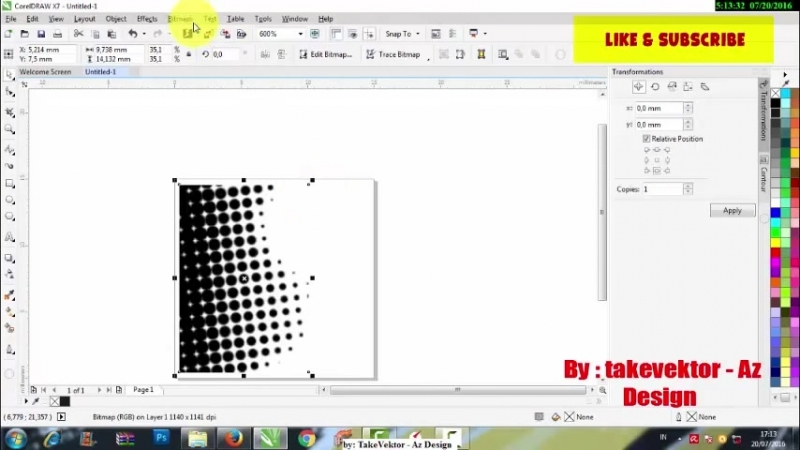 How To Create Halftones Effect With CorelDraw Cara Membuat Effect Halftone - YouTube