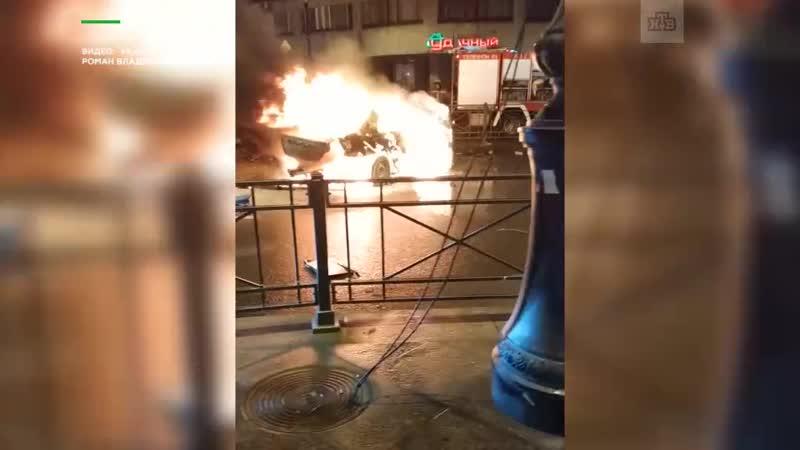 В огненном ДТП в центре Петербурга погибли и пострадали люди: