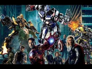Action Movies Clip Hollywood || Avengers VS Transformers || Best Clip English