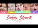 Red Velvet - Baby Shark (Color Coded Lyrics) (KANROMENG) (HAPPY 4TH ANNIVERSARY!)