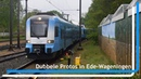 Protos 5035 en 5034 keren op station Ede-Wageningen