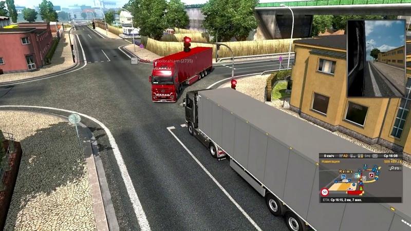 Euro Truck Simulator 2 Быдло на дорогах аварии пробки итд