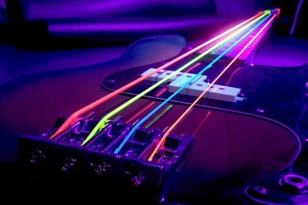 Неоновые струны для электрогитары -