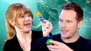Chris Pratt and Bryce Dallas Howard Take Ultimate LEGO Jurassic World Challenge