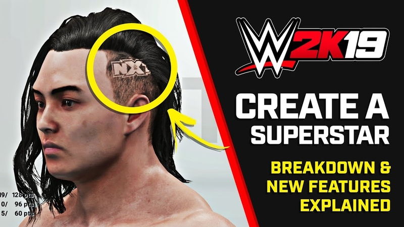 WWE 2K19 Create a Superstar - Breakdown New Features (Early Footage)