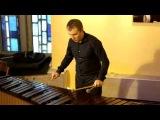 Петр Главатских на пятиоктавной маримбе