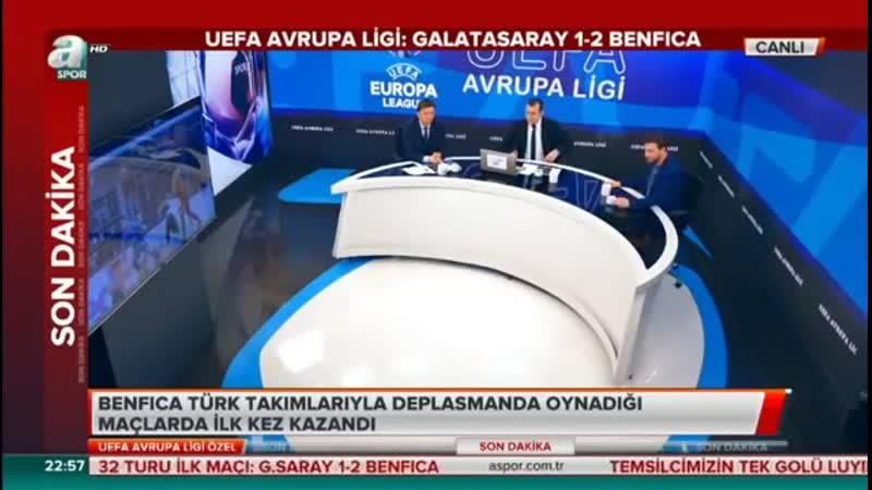 Galatasaray 1 2 Benfica Uğur Karakullukçu Evren Turhan Yorumları