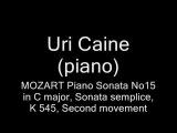 Mozart - Piano Sonata K 545, (II) - Uri Caine