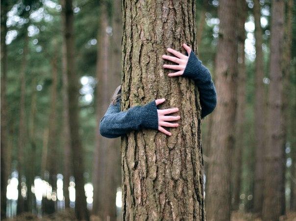 фото женщин у дерева