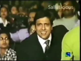 Govinda sat alongside Sohail enjoyed Salmans performance in filmfare 199798
