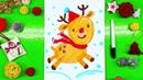 Рисуем ОЛЕНЯ на Новый года в костюме Санты