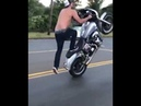 Harley stuntriding