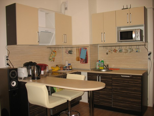 Дизайн кухни студии фото 18 кв.м