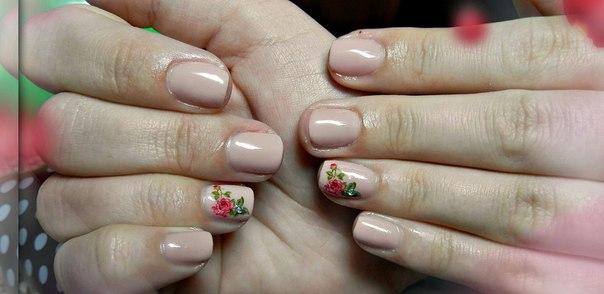 Фото гелем покрытых ногтей