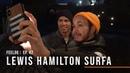 Lewis Hamilton surfa no Surf Ranch
