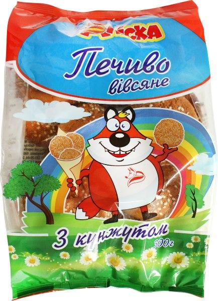 Печиво вівсяне з кунжутом /Аліска/, 300 г