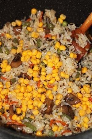 Невероятно вкусный рис с овощами и грибами Состав: -