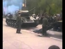 How NOT to load a Russian T34 tank on a transporter trailer TANK CRASH