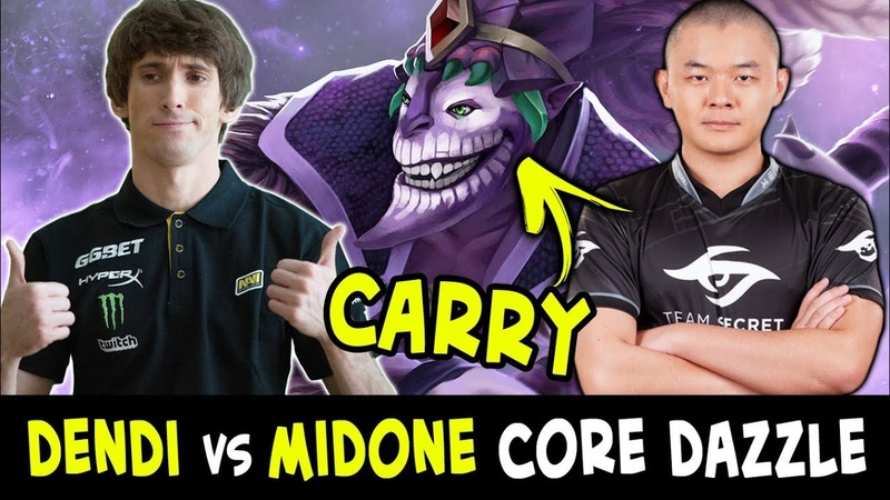 Dendi vs MidOne — CARRY Dazzle battle