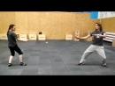 Юля и Денис воспоминают вольный бой на шпагах