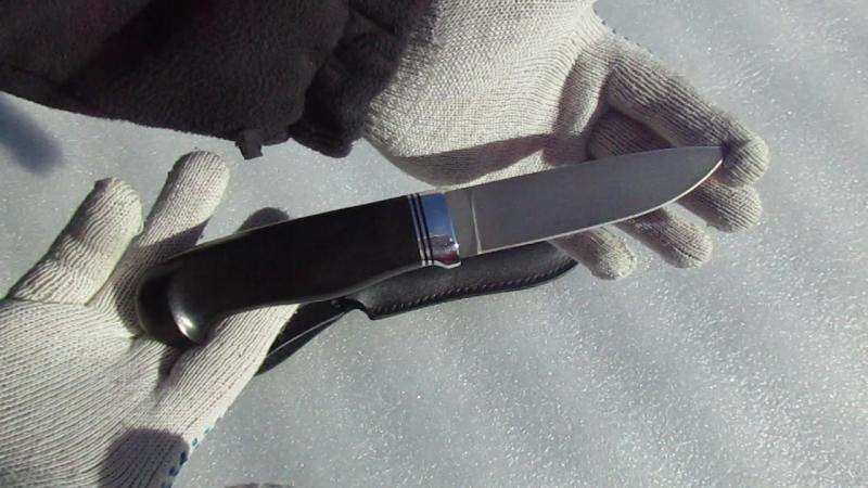 Нож разделочный НР-2т. Рукоять граб , гарда алюминий, проставки G-10, алюминий. Ножевая мастерская Кандаловых.