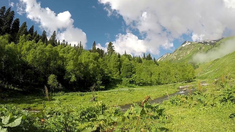 Архыз. Природа Кавказа. Таймлапс в горах.