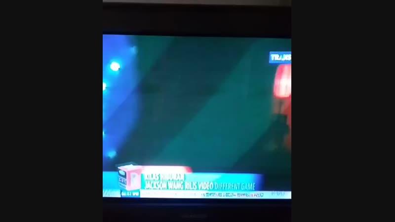 [Видео] 181113 Джексон появился в Индонезийской новостной программе со своим новым синглом совместно с Gucci Mane