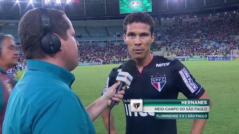 Hernanes fala após derrota para o Fluminense. o time não amadurece
