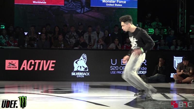 Menno/Hong 10/Vero Vs Monster Force - 3 V 3 Top 8 - Silverback Open 2018 - Pro Breaking Tour - BNC