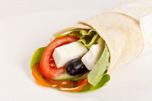 «Греческий салат в лаваше»
