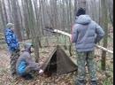 Стройка века - укрытие из плащ-палатки