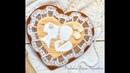 Пряничное сердце с кружевом от Веры Черневич