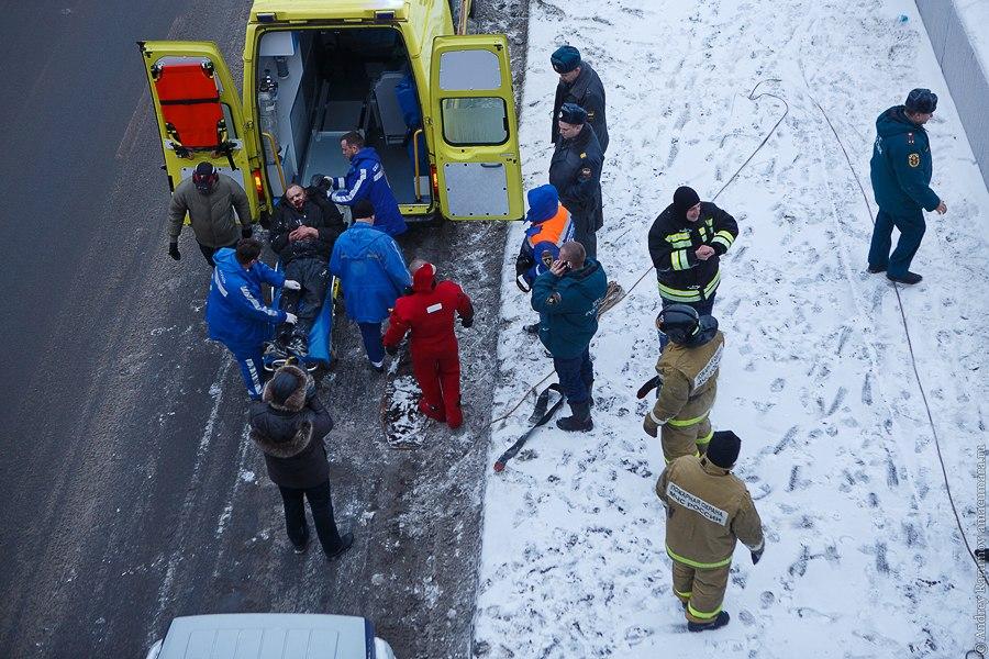 попытка суицида на Большеохтинском мосту