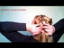 Новогодняя Прическа Змейка на Длинные Волосы в Домашних Условиях Видео_ Новый го