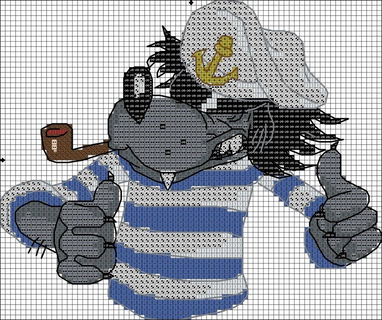 Бесплатные схемы для вышивки крестом мультфильмы