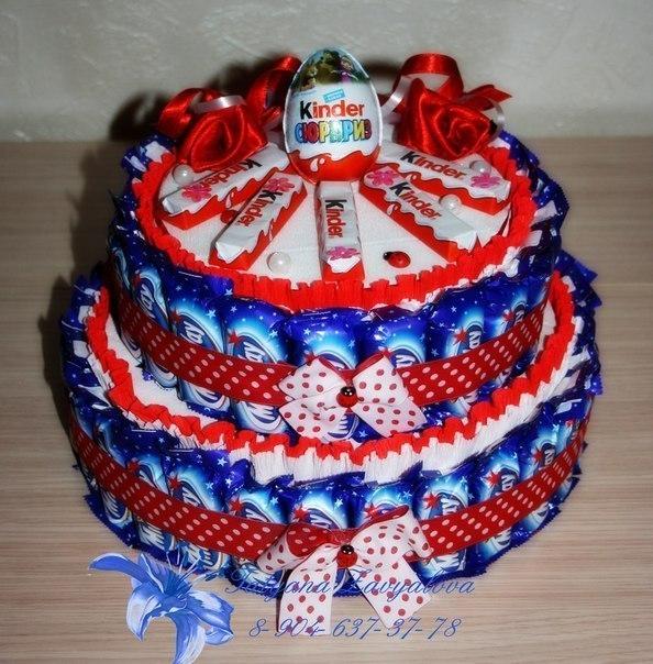 Торт из конфет своими руками пошаговые фото