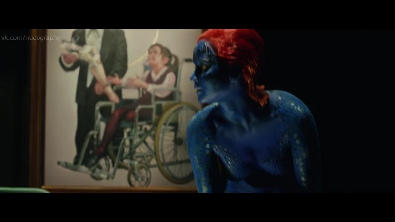 Дженнифер Лоуренс (Jennifer Lawrence) - Люди Икс Дни минувшего будущего (X-Men Days of Future Past, 2014) 1080p (Голая Нет)