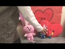 BT21 TATA and COOKY unboxing pillow plush doll bag charm