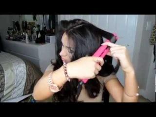 Как сделать прическу с утюжком на длинные волосы