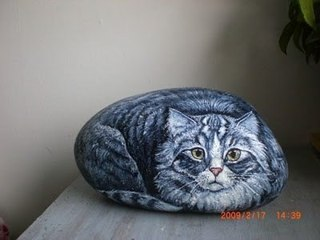 Как нарисовать кота на камне пошагово   все о кошках и
