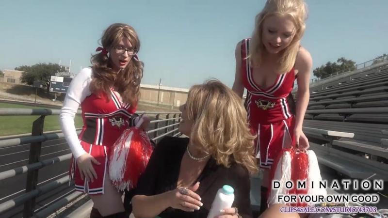 Cheerleader diapers femdom abdl humiliation