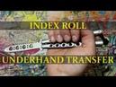 Нож-бабочка. Балисонг трюки - флиппинг средний уровень 2. Index Roll, Underhand Transfer