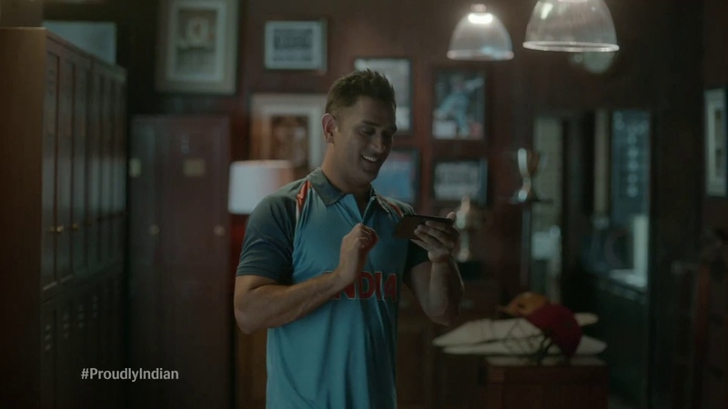 Watch MS Dhoni's moment of pride in this heartwarming video ProudlyIndian