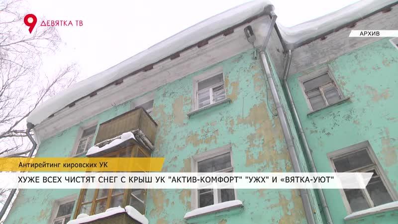 Давеча от 22.02.19 Топ-лист худших УК Кирова