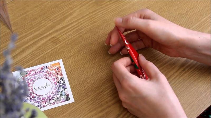 Как тонко рисовать и как делать конус для хны и другой краски / Lasingla