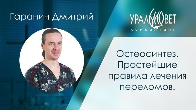 Остеосинтез Простейшие правила лечения переломов Гаранин Дмитрий