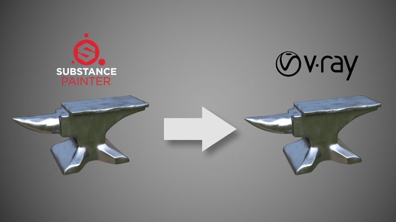 PBR workflow - Substance Painter to Vray for 3ds max