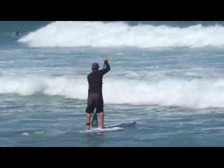 Прохождение волн SUP Surf Instruction - How to Paddle Through breaking waves