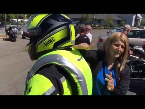 Helite Airbag Demonstration at Hansen's Motorcycles in Medford Oregon
