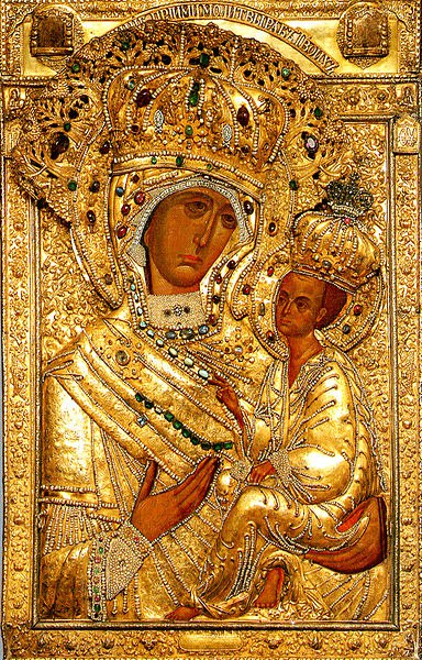 Icon of the Tikhvin Mother of God
